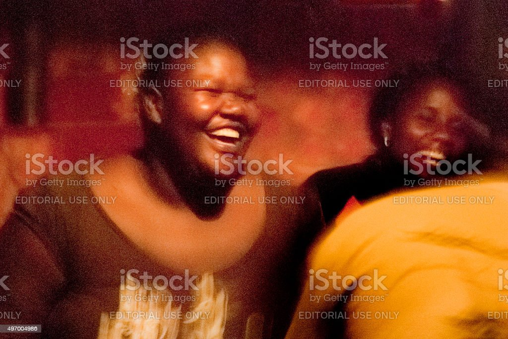 Local people in Namibia dancing stock photo