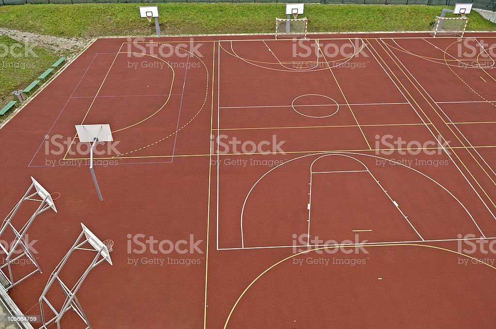 Local Playing Field royalty-free stock photo