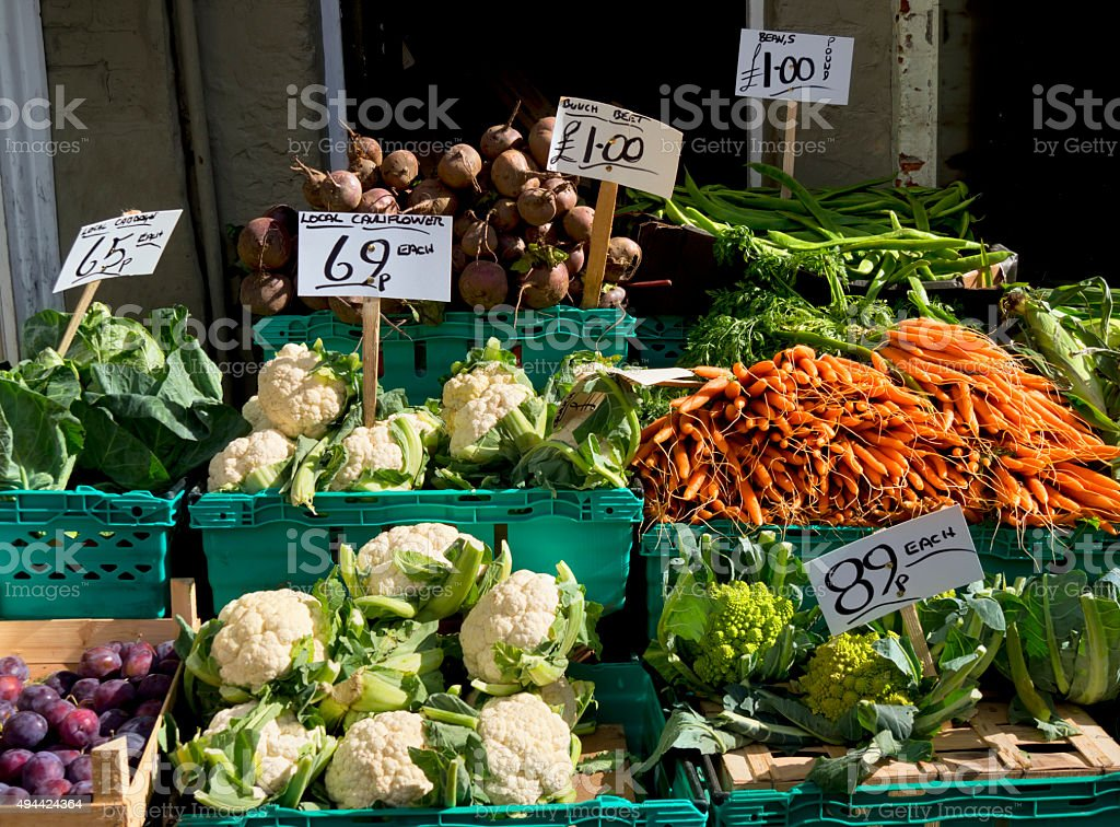 Local produce stock photo