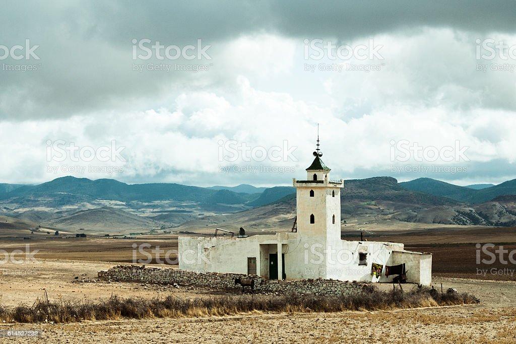 Local roadside mosque near Mrirt, Khenifra province, Morocco stock photo