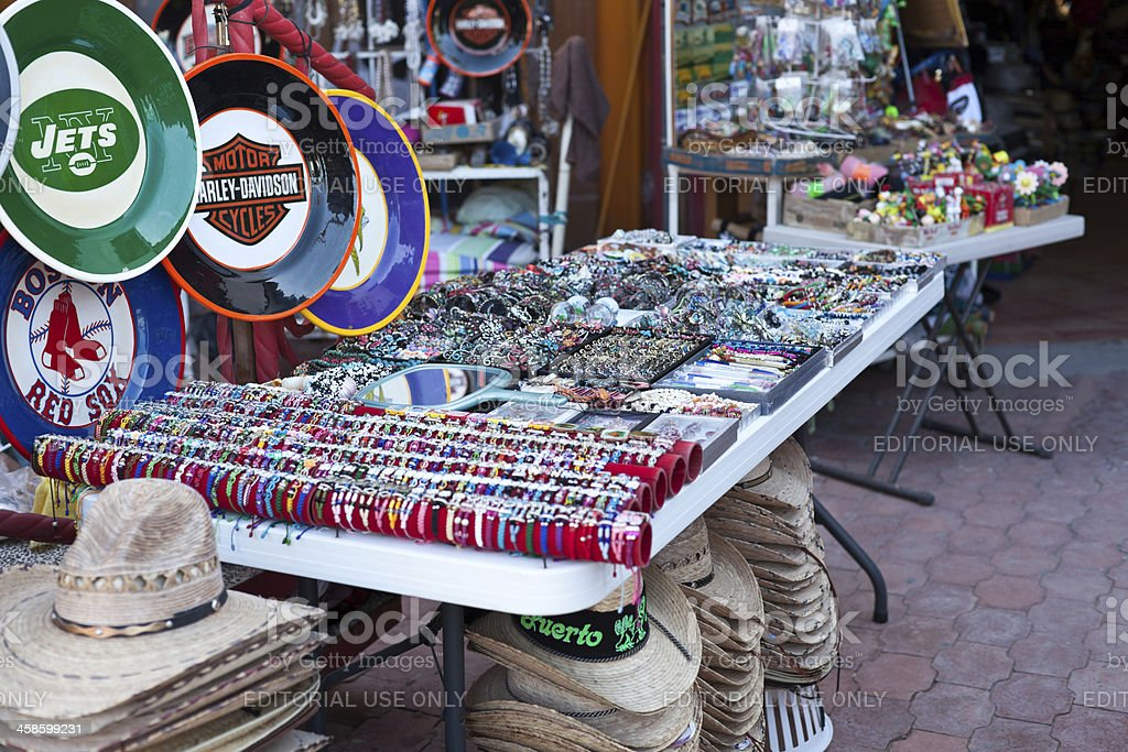 Local shops in Rocky Point, Mexico. royalty-free stock photo