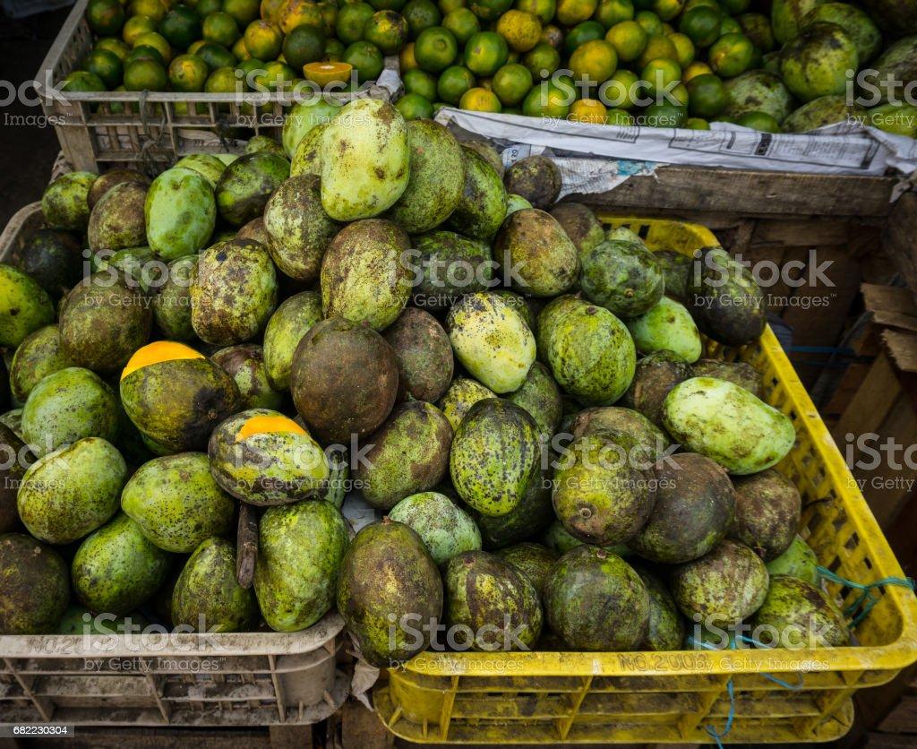 local sliced manggo in sell store photo taken in bogor jakarta indonesia stock photo