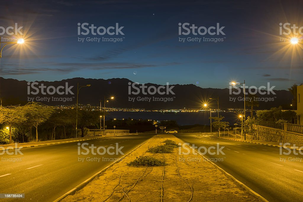 Local street early in the morning royalty-free stock photo