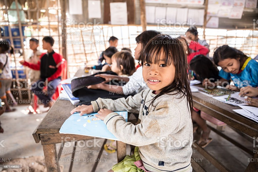 Local Students in Cambodia stock photo