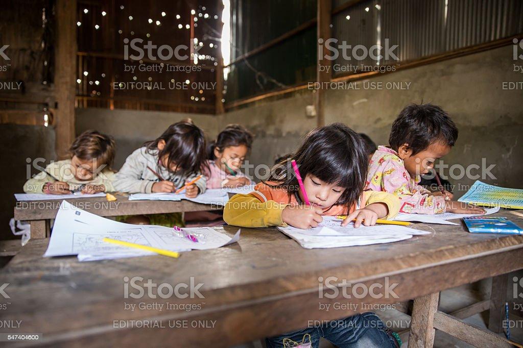 Local Students in Cambodia stock photo