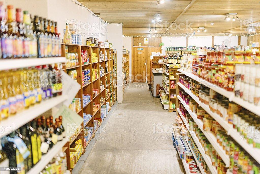 Local supermarket stock photo