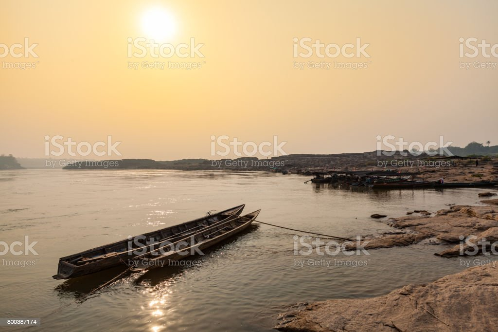 Local Taxi boats in Thailand stock photo