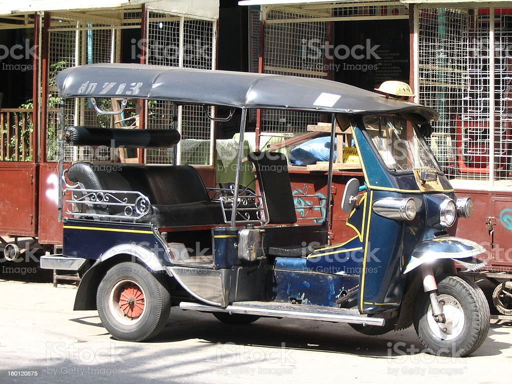 Local Taxi in Thailand royalty-free stock photo