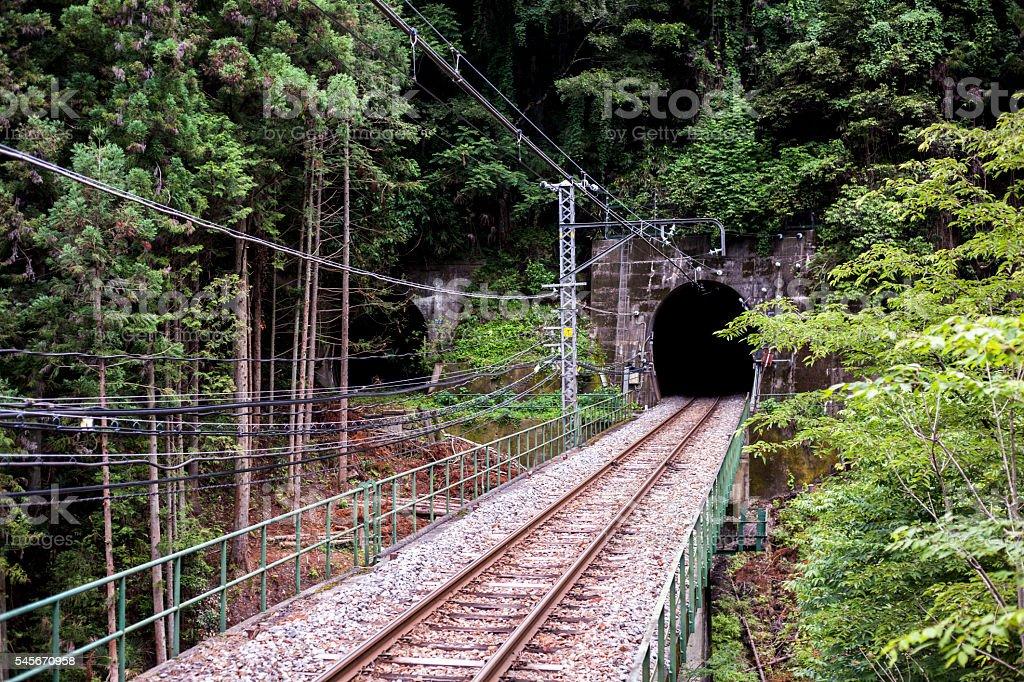 Local Train railway in Japan stock photo