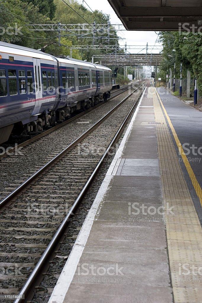 Local train - vanishing point stock photo
