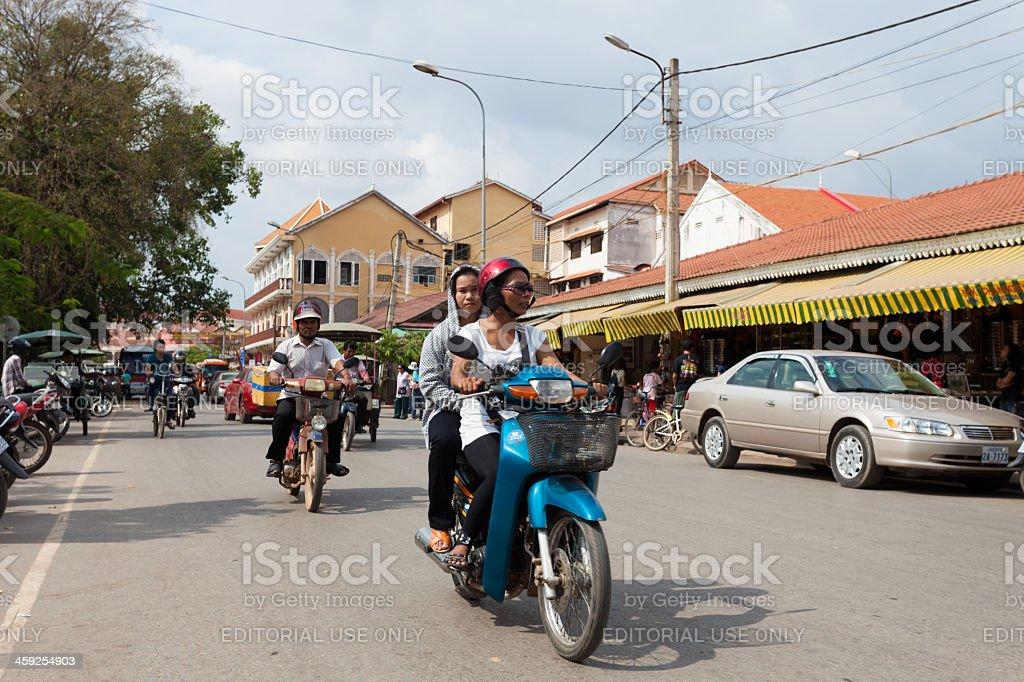 Local transportation in Angkor, Cambodia royalty-free stock photo