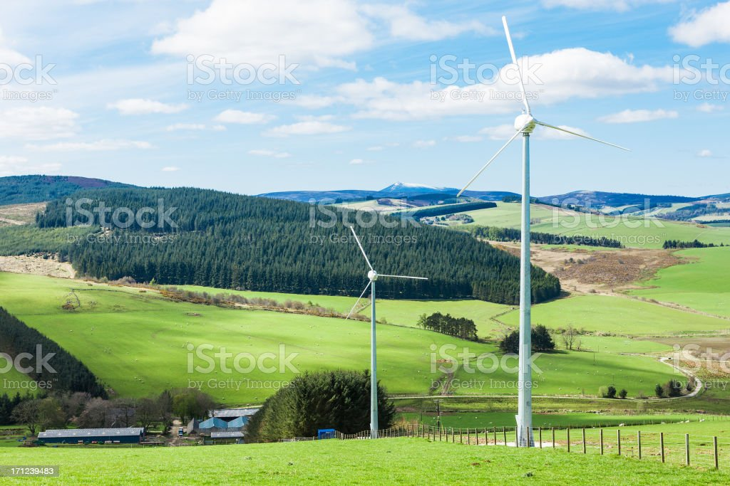 Local wind power generation royalty-free stock photo