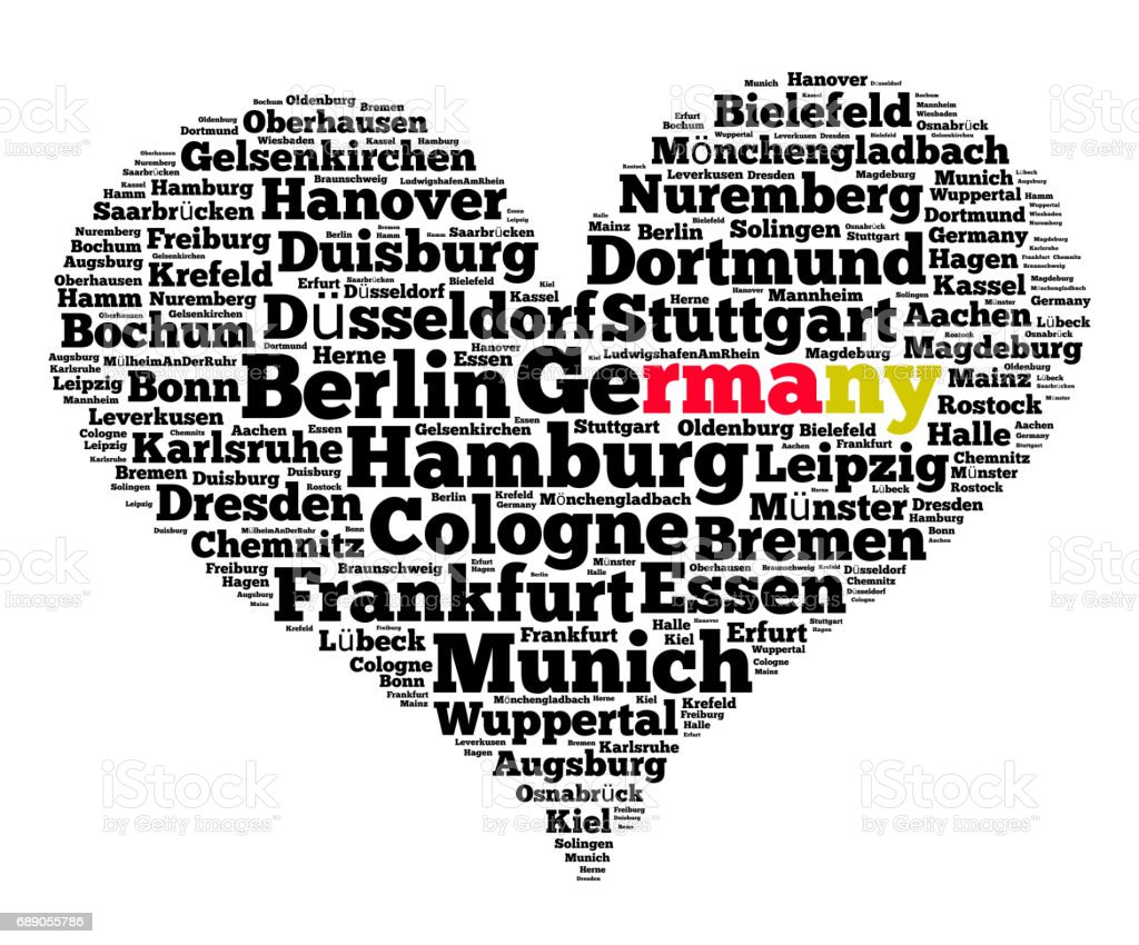 Localities in Germany stock photo