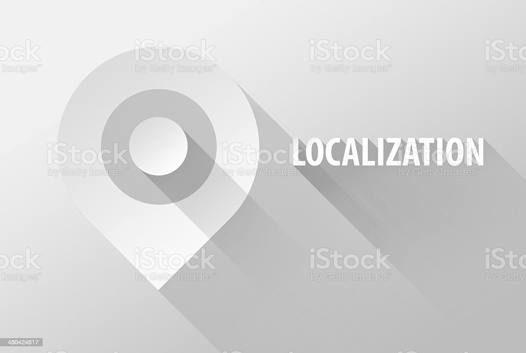 Localization tag location pin icon and widget 3d illustration stock photo