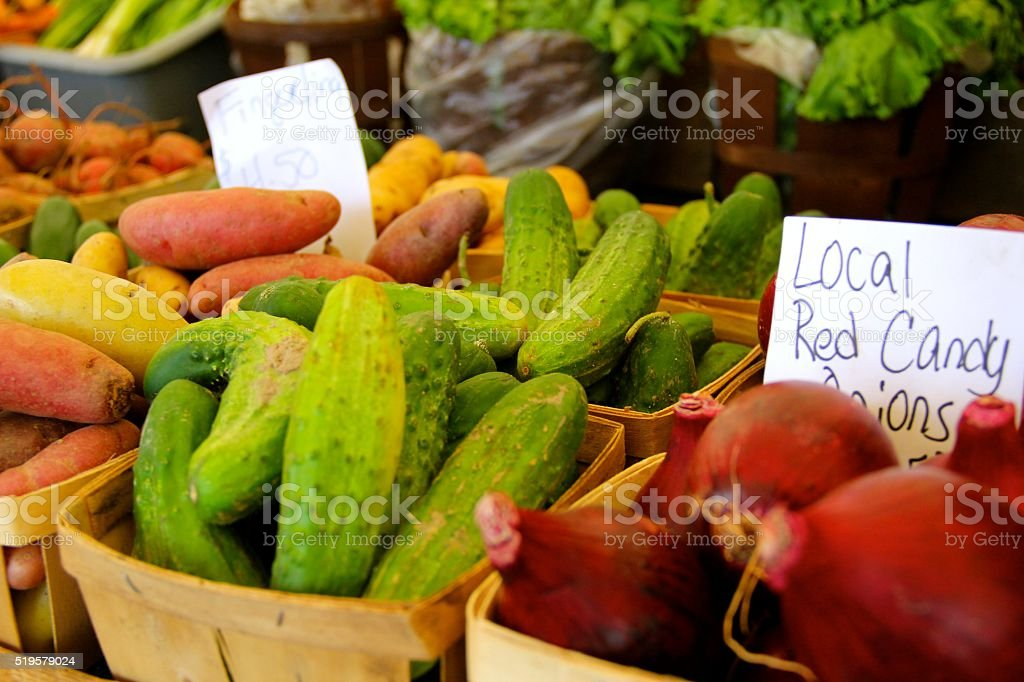Locally Grown Farmer's Market Vegetables stock photo