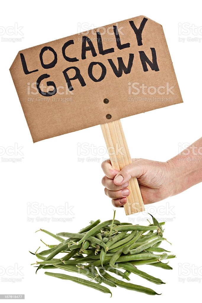 Locally Grown Green String Beans royalty-free stock photo