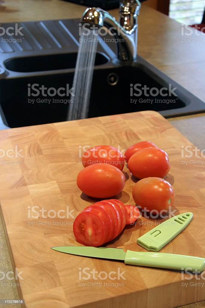 Locally Grown Produce In The Kitchen royalty-free stock photo
