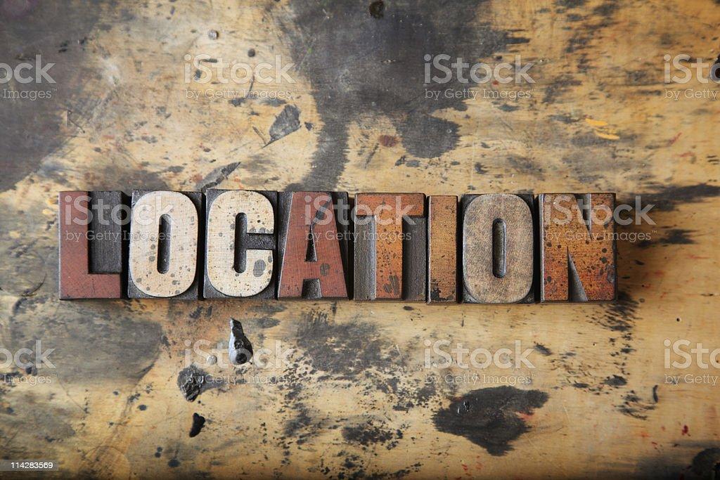 Location... stock photo