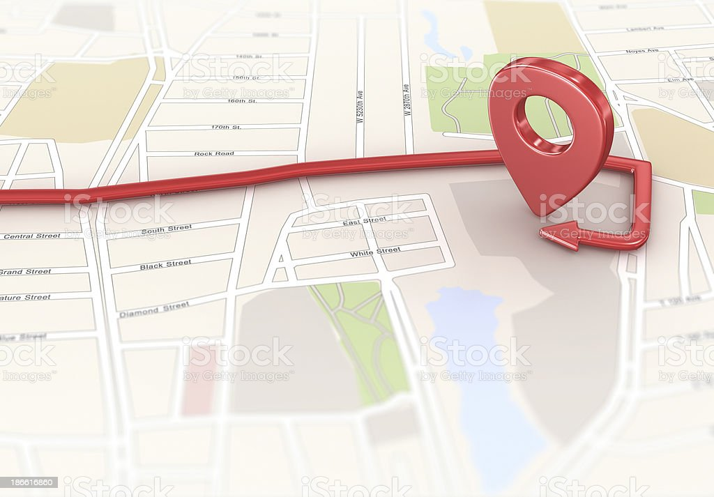 Location Point on Map royalty-free stock photo