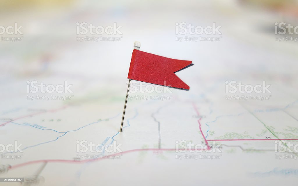 Locator flag stock photo
