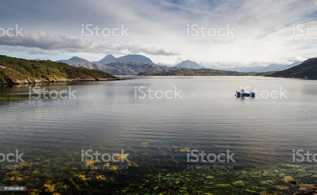 Loch a' Chracaich, Scottish Highlands stock photo