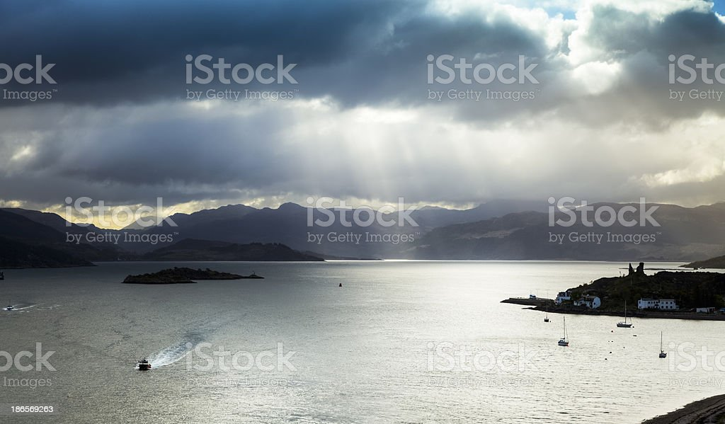 Loch Alsh and the Isle of Skye stock photo