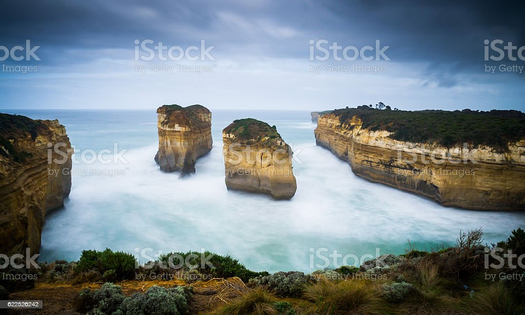 Loch Ard Gorge at Great Ocean Road stock photo