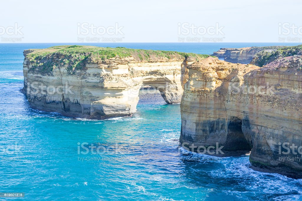Loch ard Gorge by the Great Ocean Road (Australia) stock photo