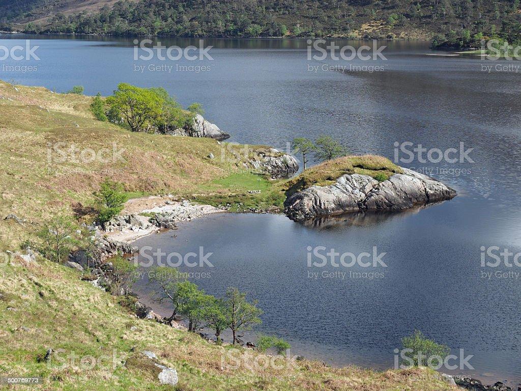 Loch Arkaig, Scotland in spring stock photo