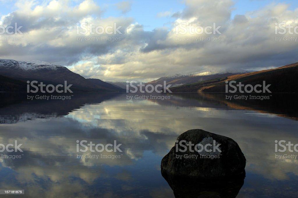 Loch Arkaig, Scotland stock photo