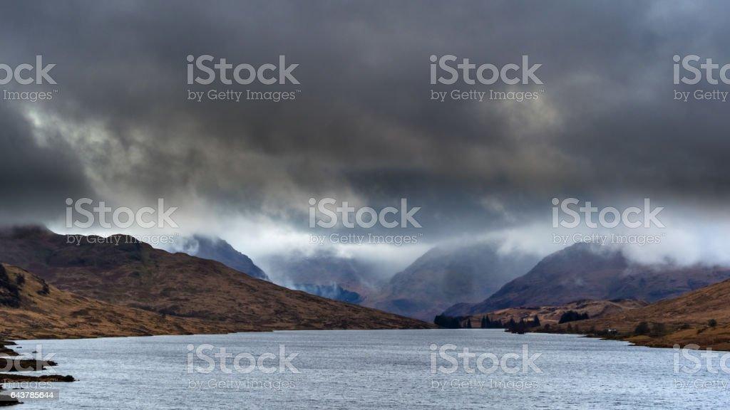 Loch Arklet, The Trossachs, Scotland. stock photo