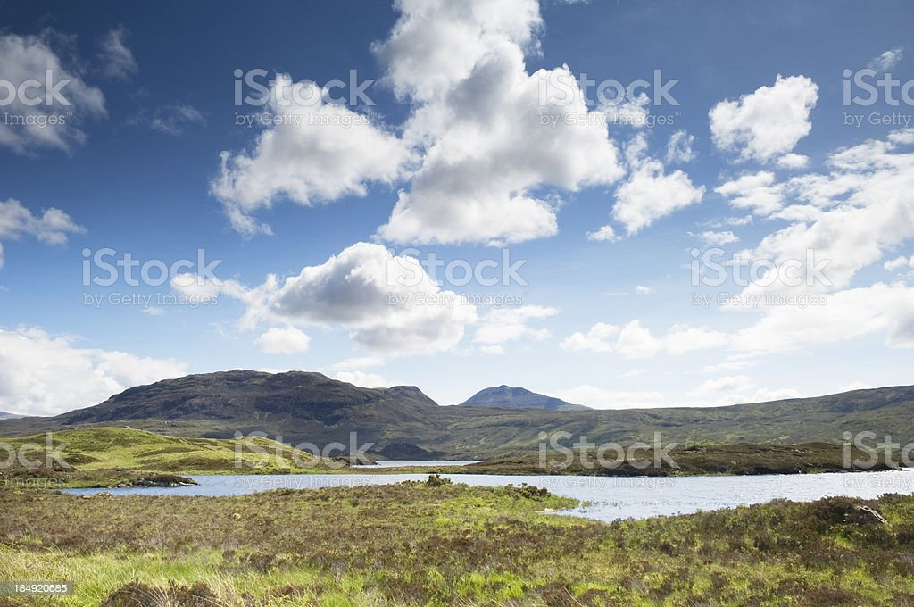 Loch Assynt and Canisp, Scotland stock photo