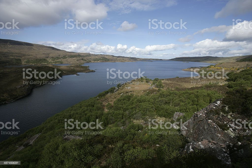 Loch Bad A Ghail stock photo