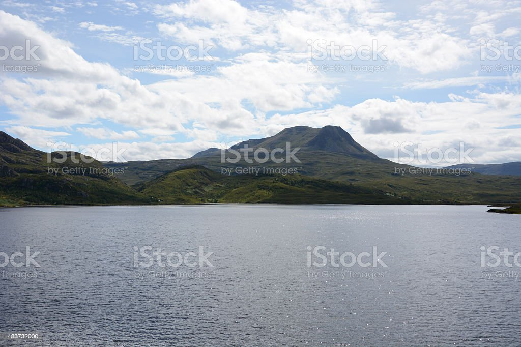 Loch Bad Na Scalaig and Meall a'Ghlas Leothaid stock photo