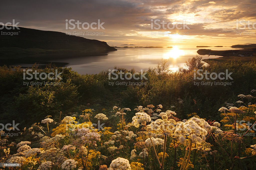 Loch Bay evening landscape stock photo