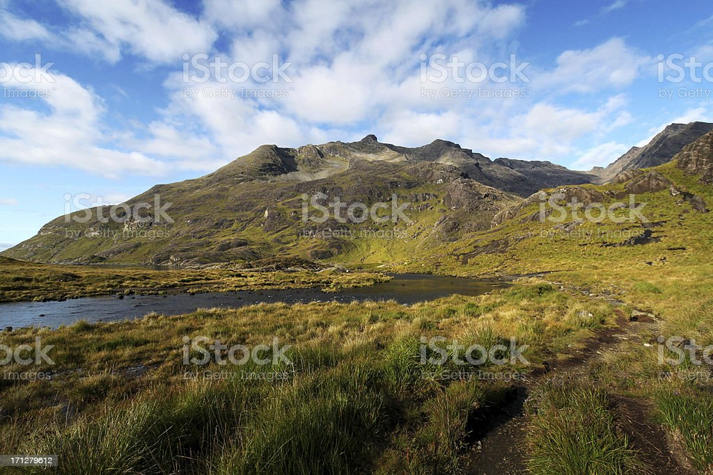 Loch Coruisk and The Black Cuillins stock photo