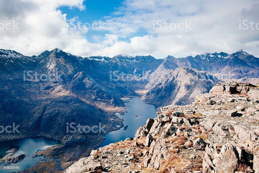 Loch Coruisk, Skye, Scotland stock photo