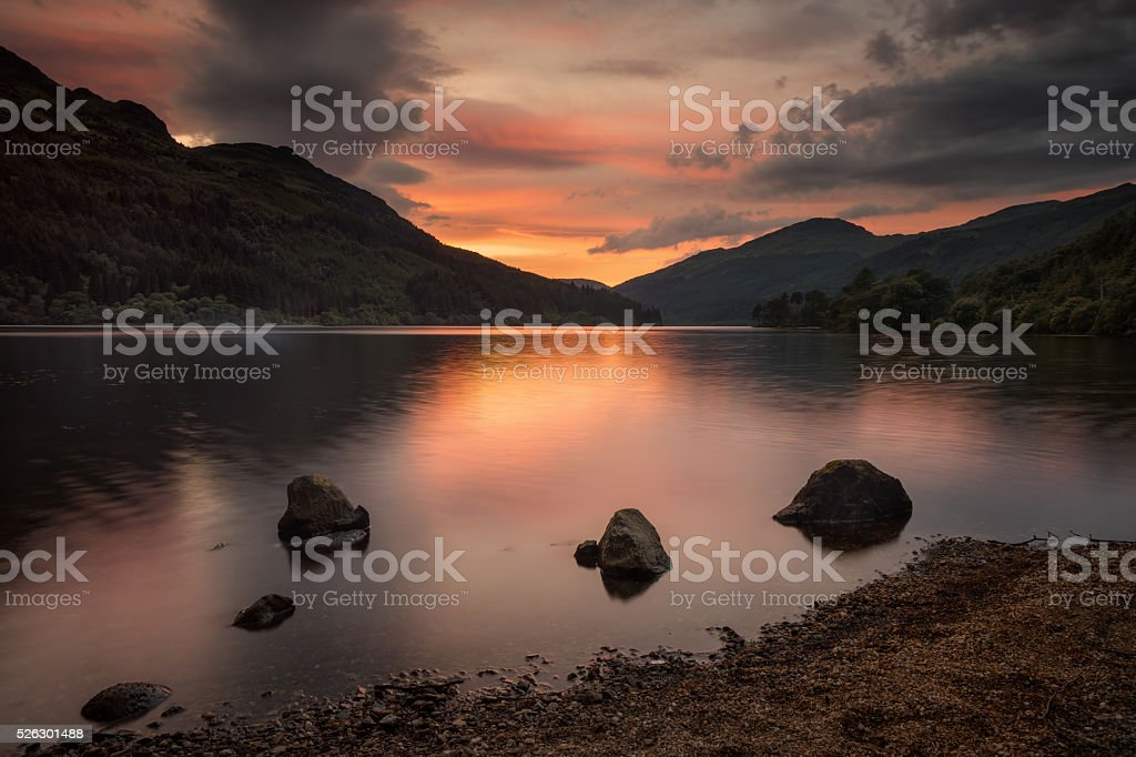 Loch Eck stock photo