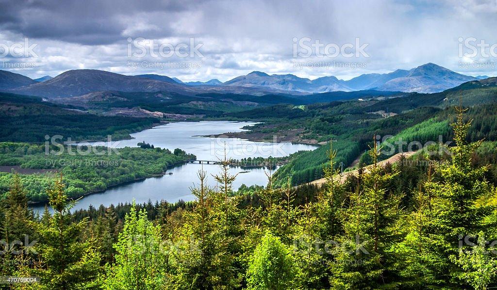 Loch Garry stock photo
