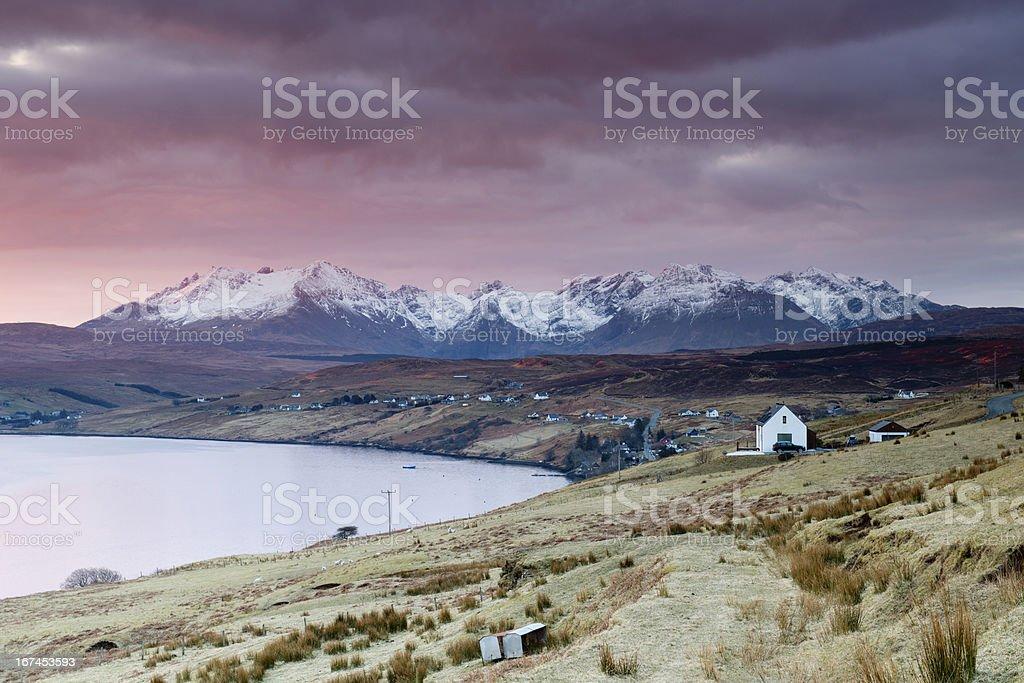 Loch Harport sunrise royalty-free stock photo