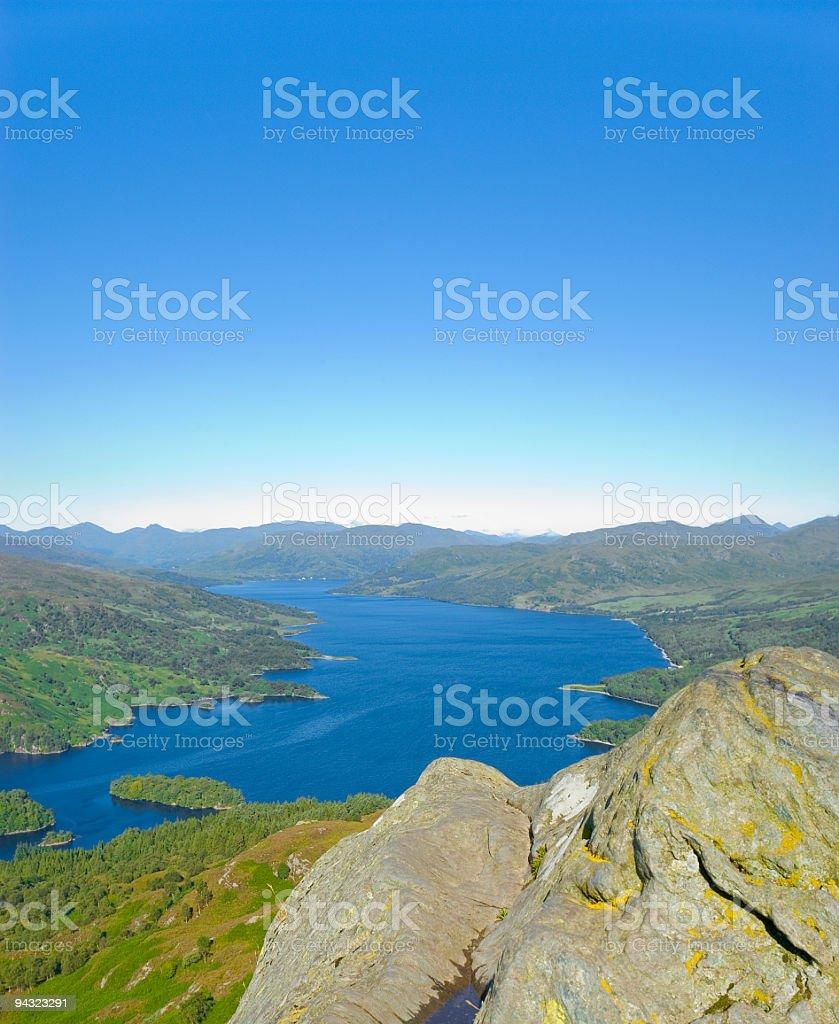 Loch Katrine, Scotland royalty-free stock photo