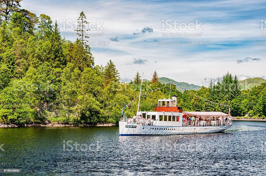 Loch Katrine Steamship stock photo