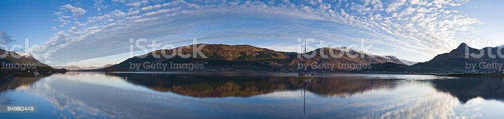 Loch Leven Glencoe Scotland stock photo