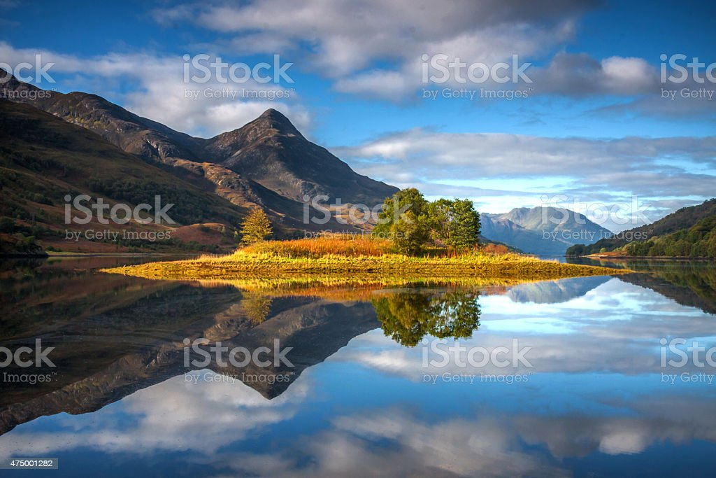 Loch Leven Reflections stock photo