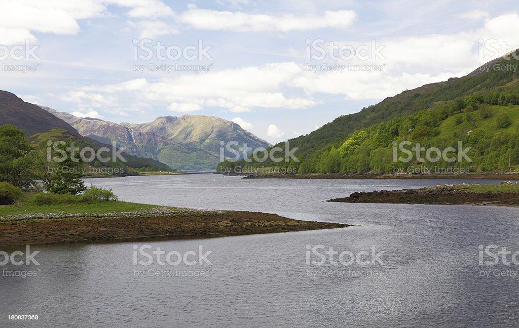 Loch Leven,Glencoe,Scotland stock photo