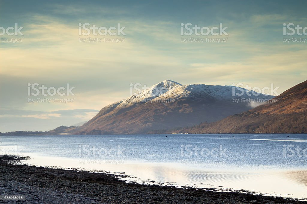 Loch Linnhe and Garbh Bheinn, Scottish Highlands stock photo