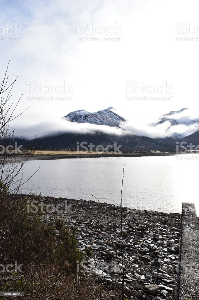 Loch Linnhe from Onich stock photo