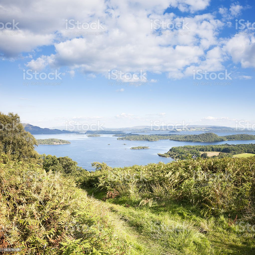 Loch Lomond from Beinn Dubh royalty-free stock photo