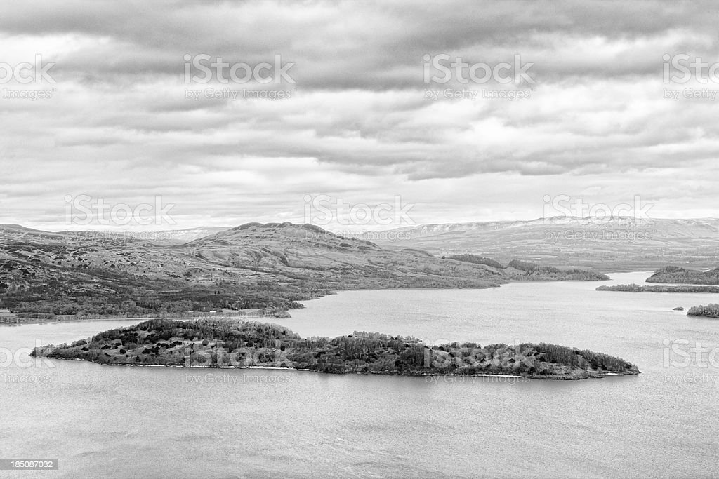 Loch Lomond from Beinn Dubh stock photo