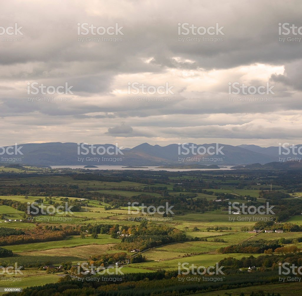 Loch Lomond From Dumgoyne royalty-free stock photo